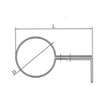Wall flue pipe clamp